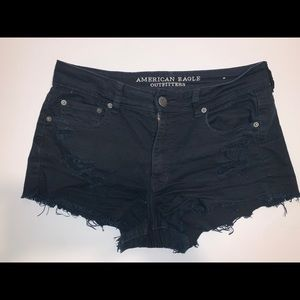 American Eagle Stretchy Black Festival Shorts